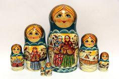 Russian Matryoshka 7pcs The Winter's Tale original by EtsyGrail