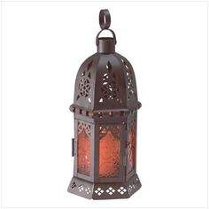 Gifts  Decor Moroccan Metal Amber Glass Candleholder Lantern Light * To view further for this item, visit the image link.Note:It is affiliate link to Amazon.