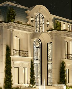 IONS one the leading interior design companies in Dubai .provides home design, commercial retail and office designs Classic House Exterior, Classic House Design, Dream House Exterior, Dream Home Design, Modern House Design, Villa Design, Classic Architecture, Facade Architecture, Building Design