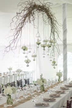 Branch chandelier. Photography By / autumnwilson.com, Design, Planning   Florals By / sadiesfloral.com