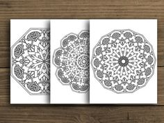 Celtic Mandala digital mandala colouring mandala by PaperFarms