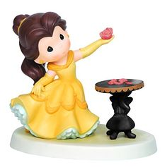 Precious Moments Disney Belle Holding Rose Figurine