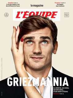"lovegrizi: ""Antoine Griezmann for L'équipe "" Antoine Griezmann, Football Tops, Football Soccer, Books 2016, New Books, Psg, France National Team, Celebrity Photography, G Man"