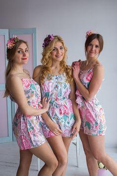 aef7d7bd6 22 Best Floral Bridesmaids Romper   Jumpsuit Sets images