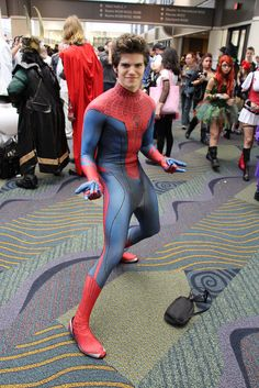 Amazing Spiderman - even rocking the hairdo