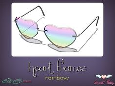 Heart Frames - Rainbow by Sweet Thing. <3 | Flickr - Photo Sharing!