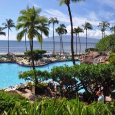 The pool at the Hyatt Regency Maui