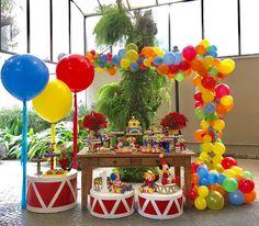 Carnival Birthday Parties, Circus Birthday, Circus Theme, Birthday Party Themes, Music Themed Parties, Music Party, Pokemon Party, Baby Boy 1st Birthday, Sesame Street Birthday