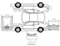 Mercedesclk Paper Car Toys Oragami Folding Models Free