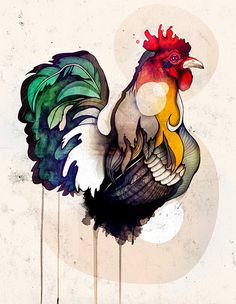 This is one that I must get tattoo! Rooster is my favorite because I am Rooster from chinese horoscope! I am proud to be one of them.
