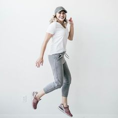 Athleisure in Nike joggers