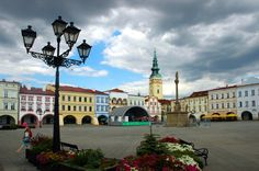 Novy jicin central square (: - place of birth Central Square, European Countries, Amazing Destinations, Czech Republic, Prague, Poland, Places Ive Been, Summer, Mansions