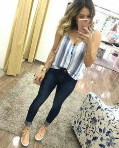 50 Ideas for sport chic style casual jeans Chic Outfits, Spring Outfits, Fashion Outfits, Fashion Clothes, Fashion Tips For Women, Trendy Fashion, Womens Fashion, Cheap Fashion, Fashion Brands