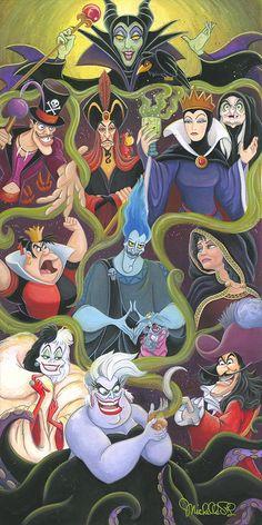 Collection of Disney Villains Disney Pixar, Disney Marvel, Heros Disney, Disney Villains Art, Disney And Dreamworks, Disney Art, Disney Collage, Original Disney Characters, Disney Villian