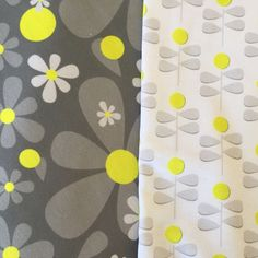 """Patterns from my """"Catch some Zzzzz"""" collection. Hello Daisies and Dandelions. #diy  #spoonflower #fabric #giftwrap #sew #sewing #misschiffdesigns #surfacedesign #surfacepattern #surfacepatterndesign #maker #handmade #patterns #crafty #giftwrapping #textiles #textiledesign #quilt #quilting #homedecor #interiordesign #interiordecor"""