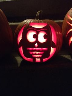 cute owl pumpkin