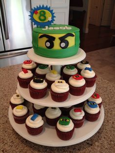 Ninjago Cake/Cupcakes, just gotta find out which Ninja is his favorite for the cake