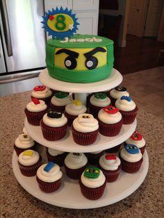 Ninjago Cake/Cupcakes