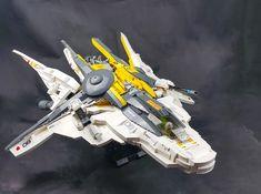 Mercury class Interceptor. Final, with stand.   by Brick Martil