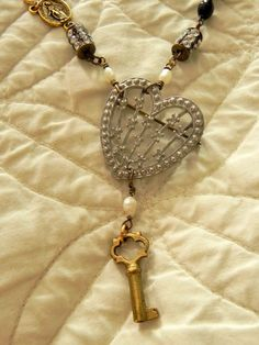 Key to My Heart Necklace by AllEyeC on Etsy, $95.00