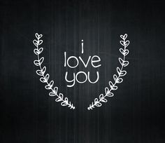 I Love you Vinyl Lettering Wall Words Decal by OZAVinylGraphics