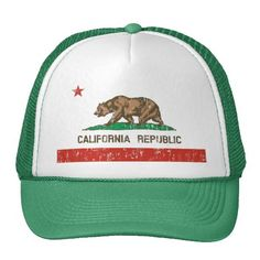 Vintage California Republic State Flag Trucker Hat http://www.zazzle.com/vintage_california_republic_state_flag_trucker_hat-148569995104215919?rf=238675983783752015
