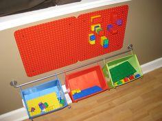 Lego Duplo Activity Wall Idea for Playroom #LegoDuploParty