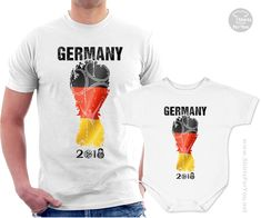 5772727ccbd Germany Football Fan Matching T-Shirt and Onesie, Football Tournament in  Russia. Germany TeamGermany FootballFootball TournamentFootball FansWorld  Cup ...