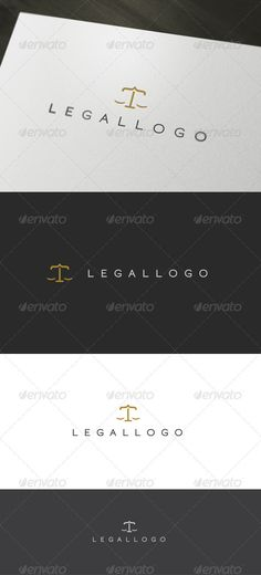 logo that can be used for advocacy and profecionales laws, law firms, among other uses relacionaods the law. Its design is typographical and easy to use. • Available here → http://graphicriver.net/item/legal-logo/903096?s_rank=147&ref=pxcr