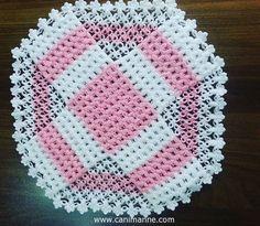 Lif Modelleri ve Lif Örnekleri Crochet Shrug Pattern, Baby Knitting Patterns, Crochet Patterns, Crochet Squares, Crochet Doilies, Crochet Storage, Crochet Table Runner, Modern Crochet, Crochet Baby