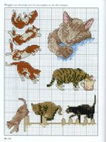Gallery.ru / Фото #58 - Picture Your Pet in Cross Stitch - patrizia61. Tuckered out kittens.