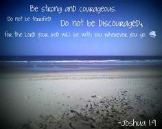 Esfuérzate y sé valiente; no temas ni desmayes, porque el Señor, tu Dios estará contigo en dondequiera que vayas. Josue 1:9
