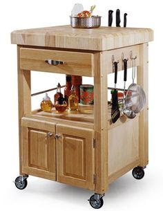 Kitchen islands like this one are practical and fairly easy to build.