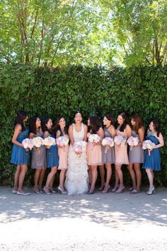 love the bridesmaids color palette!