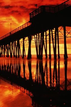 California San Diego, bridge, bro, pier, sunset, clouds, water, reflection, golden, breathtaking, colourful, photograph, photo