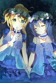 Eli and Umi Anime Scenery Wallpaper, Couple Wallpaper, Umi Love Live, Love Live School Idol Project, Anime Sisters, Bff, Daydream, Cool Girl, Fan Art