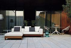Alison Iroko Sofa by Minotti Spa http://ecc.co.nz/furniture/outdoor/seating/sofa/alison-iroko-outdoor-sofa
