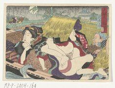 Utagawa Kunisada : Veerboot in de pleisterplaats Yodo-Rijksmuseum RP-P-2004-169.jpeg