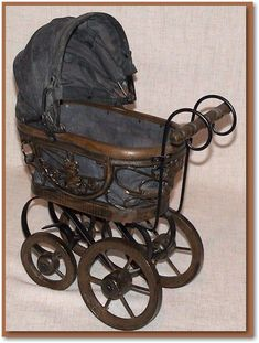 victorian baby buggies | victorian baby carriage | Victorian Style Doll Baby Buggy Pram ...