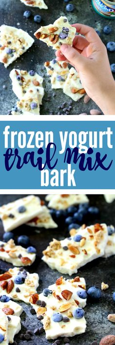 Healthy Frozen Yogurt Trail Mix Bark is the perfect easy summer dessert! This tasty treat is ridiculously simple to throw together, even the kids can whip it up. (gluten free)