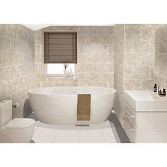 Wickes Avellino Cappuccino Beige Ceramic Wall & Floor Tile 360 x Beige Tile Bathroom, Tile Bedroom, Small Bathroom Tiles, Bathroom Tile Designs, Bathroom Design Small, Bathroom Flooring, Bathroom Wall, Bathroom Ideas, Family Bathroom
