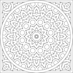 dont eat the paste mandalas to color - Blank Coloring Pages