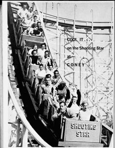 The Shooting Star roller coaster at Old Coney Island.