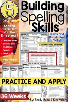Fifth Grade Spelling and Vocabulary Program for the YEAR! This resource contains everything you need to teach 5th grade spelling for ALL 36 weeks of the school year. It has been thoughtfully constructed to address the Common Core standards and helps students learn and master words for specific spelling rules and patterns, as well as academic content vocabulary.