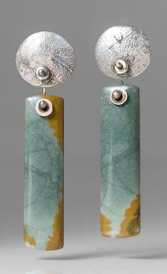 Holly Masterson Owyhee Jasper Earrings | Santa Fe Dry Goods & Workshop #hollymasterson #owyheejasper #jasper #earrings #jewelry #gift #santafe #santafedrygoods