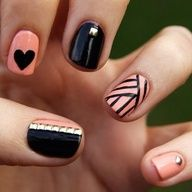Pastel nails is so feminine , here is pastel nail designs for your inspiration. Pale pink and black pastel nails Pink and gold nail design Pastel nails with tibal design Beauty and Hair!,Crazy Cool Nails,Get Yo Nails D Love Nails, How To Do Nails, Fun Nails, Pretty Nails, Sexy Nails, Gorgeous Nails, Classy Nails, Happy Nails, Chic Nails