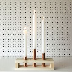 Reclaimed Wood and Copper Candle Holder | Mothers Day, Modern, Simple, Danish, Scandinavian Decor