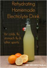 It's summer, it's hot and the kids are out running around or going to practice in this heat. They need something to replenish those electrolytes. So, instead of reaching for the store bought sports drinks try making this natural electrolyte drink recipe we found on