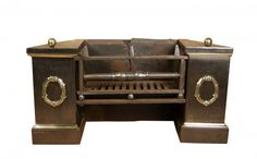 UNUSUAL REGENCY FIRE GRATE WITH CAST BRASS DETAILING - UK Architectural Heritage