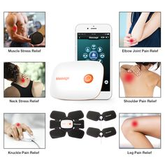 Smart APP EMS Stimulator Trainer Massage Pain Relief Abs Body Shape Muscle Fitness Equipment Fitness Equipment, No Equipment Workout, Wellness Fitness, Muscle Fitness, Body Shapes, Pain Relief, Ems, Trainers, Massage